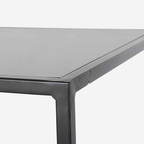 Consolle Moderna ed Elegante di Design in Acciaio e Vetro Homemotion - Malpensa