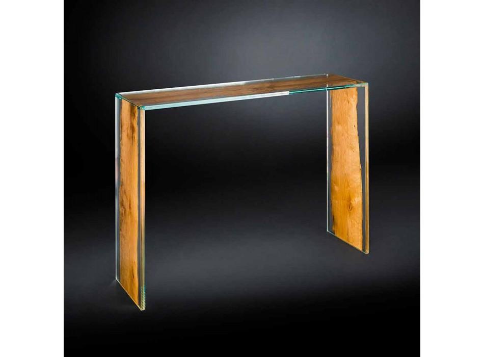 Consolle moderna in vetro e legno di Briccola veneziana Venezia
