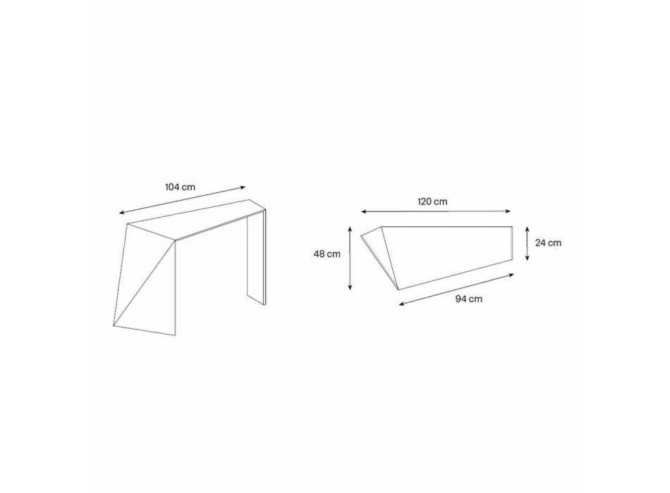 Consolle per Ingresso Moderna in Vetro Extrachiaro Made in Italy – Rosalia