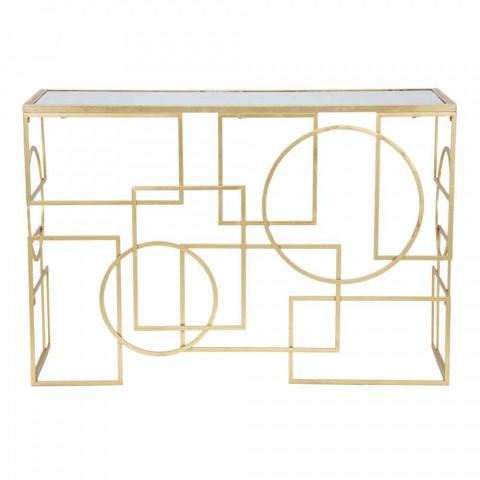 Consolle Rettangolare di Design Moderno in Ferro e Specchio - Billie