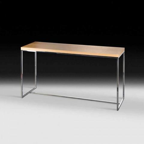 Consolle rettangolare in legno e metallo 100% Made in Italy Flora
