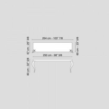 Consolle stile classico rivisitato in MDF e acciaio Luigi