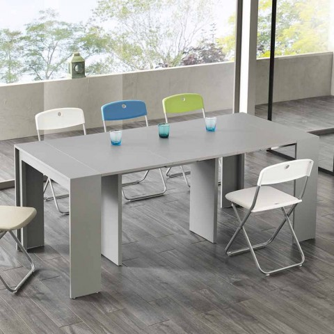 Consolle/Tavolo da pranzo allungabile, l. 42,50/302,50xp.90 cm, Alvaro