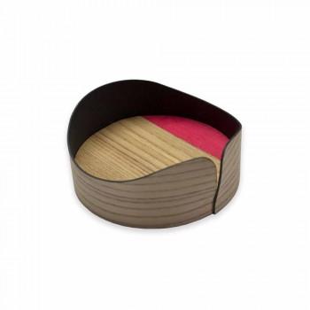 Contenitore Moderno Circolare in Vero Legno Made in Italy – Stan