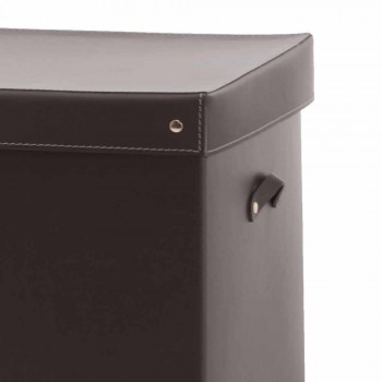 Contenitore Portaoggetti Moderno in Cuoio Rigenerato Made in Italy – Gabry