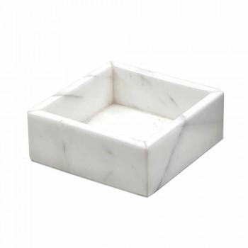 Contenitore Quadrato in Marmo di Carrara o Marquinia Made in Italy - Torre