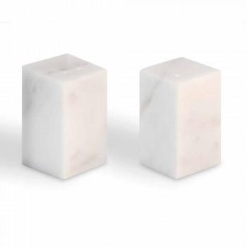 Contenitori per Sale e Pepe in Marmo Bianco di Carrara Made in Italy - Julio