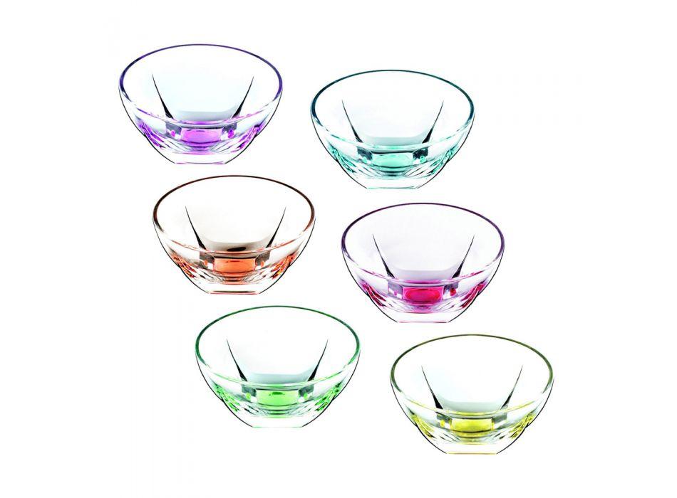 Coppette da Frutta o Gelato in Eco Cristallo Colorato 13 Pezzi - Amalgama