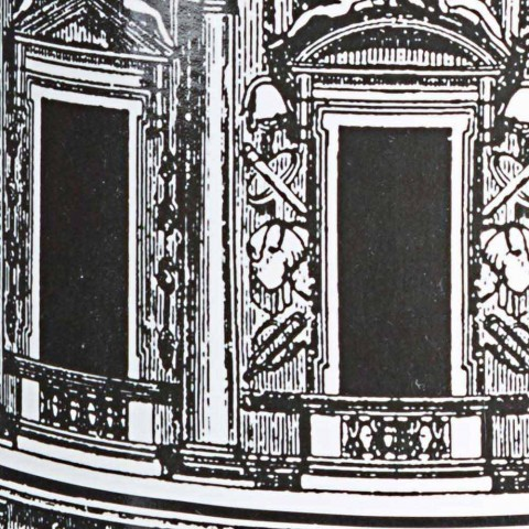 Coppia di Portaombrelli in Porcellana con Decalcomania Homemotion - Jumbo