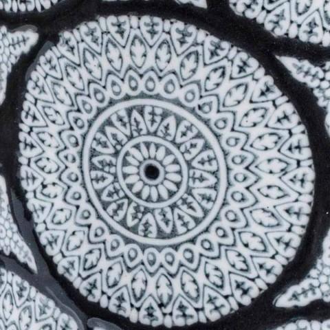 Coppia di Portaombrelli Moderni in Porcellana con Decori Homemotion - Jimbo