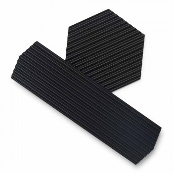 Coppia di Vassoi in Acciaio Laccato Nero o Dorato Design Moderno - Savona