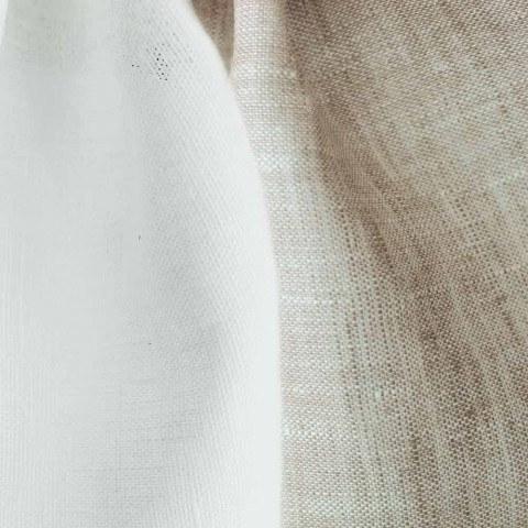Copripiumino in Lino Double Face Bianco Panna e Naturale Made in Italy – Blessy