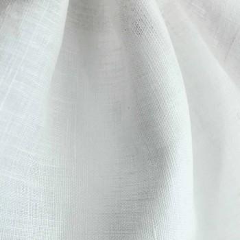 Copripiumino Lino Bianco Matrimoniale, Singolo o Piazza ½ Made in Italy– Blessy