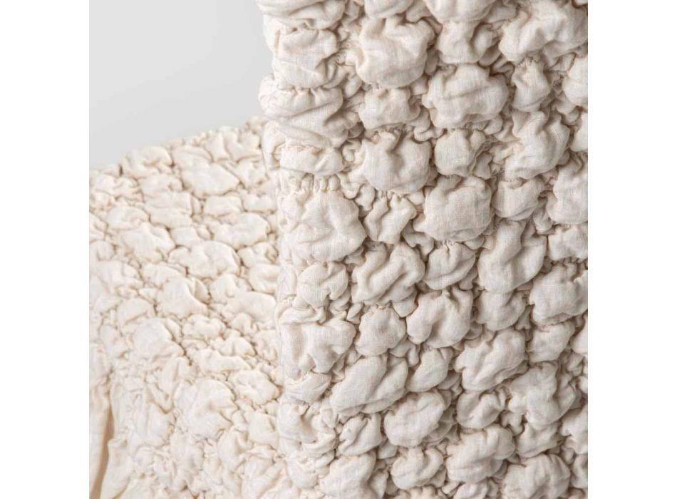 Coprisedia con Schienale Elegante per Soggiorno in Lino Ricamato - Panteo