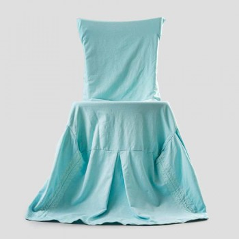 Coprisedia Elegante per Soggiorno con Schienale in Cotone Colorato - Filippa