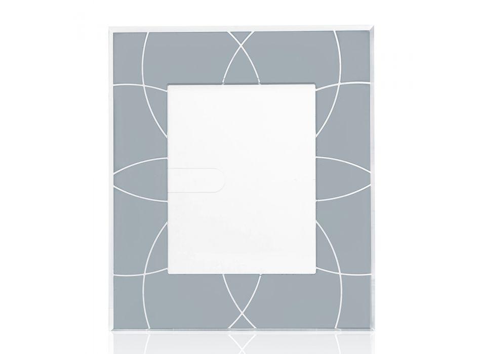 Cornice Portafoto 13x18 cm Plexiglass Colorata Decorata Riciclabile - Kang