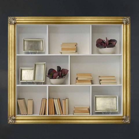 Libreria A Muro Sospesa.Libreria Sospesa Da Muro In Legno Di Geloton Giulio Made In Italy