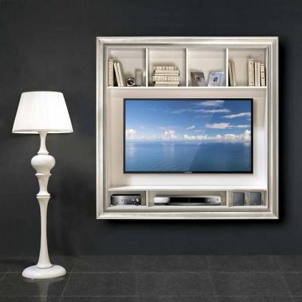 Cornice porta televisore al plasma da parete Mirko, in legno
