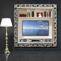 Cornice porta TV da parete in legno prodotta a mano in Italia Mario