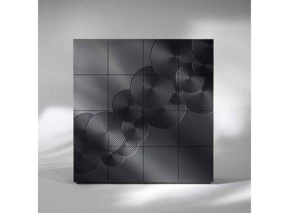 Credenza a 16 ante design moderno Ardesia, bianca, nera oppure oro