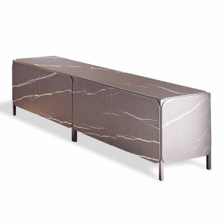 Credenza Bassa in Ceramica e Metallo Made in Italy - Bonaldo Frame Sideboard K