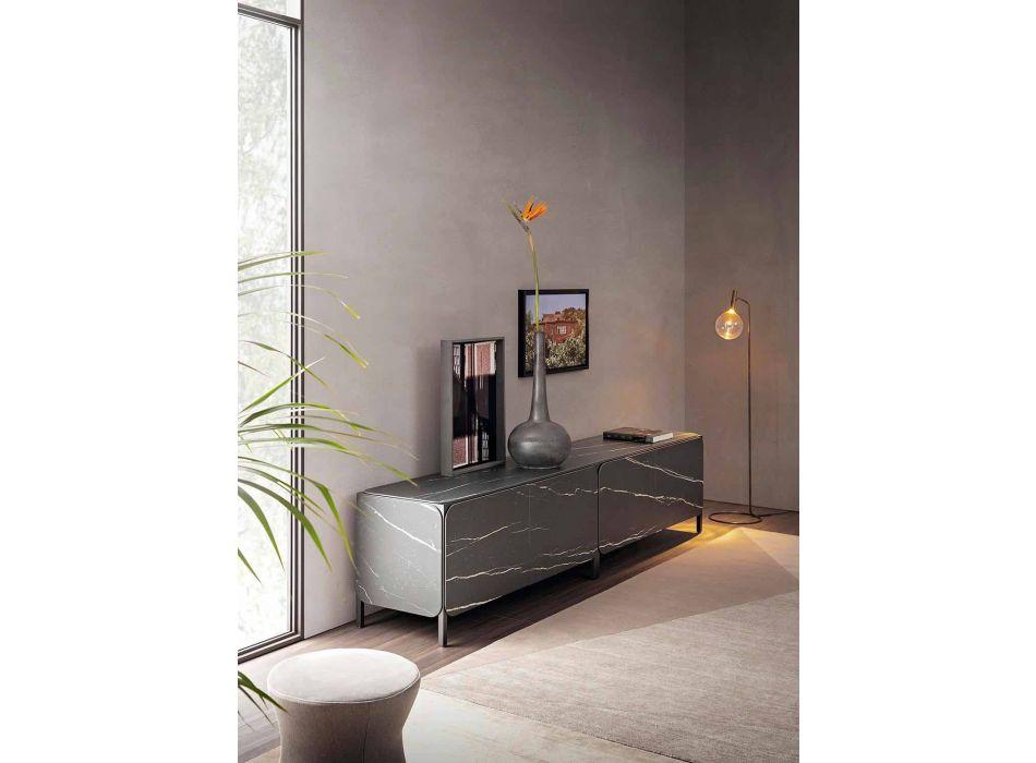 Credenza Bassa in Ceramica e Metallo Made in Italy - Bonaldo Frame Sideboard K