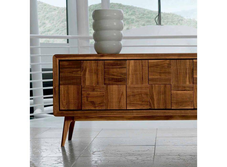 Credenza con 3 ante in legno di noce massello design modernoNensi