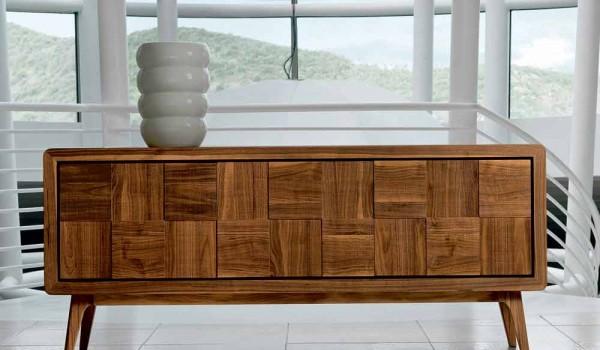 Credenza Per Esterno In Legno : Credenza con 3 ante in legno massello design moderno nensi