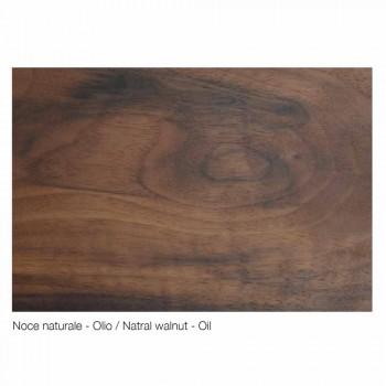 Credenza design moderno in legno massello, L192 x P 50 cm,Teresa