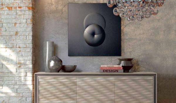 Credenza Moderna In Legno Massello : Credenza design moderno in legno massello l xp cm teresa