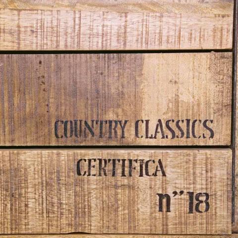 Credenza in Legno e Acciaio con Anta e 4 Cassetti Stile Industriale - Renza
