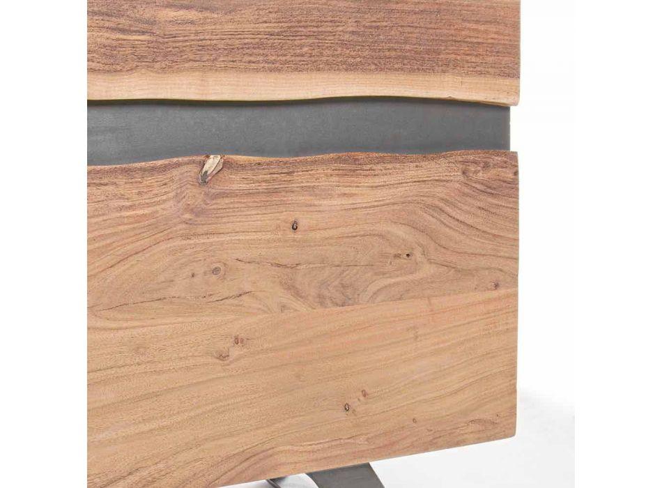 Credenza in Legno e Acciaio Verniciato Design Moderno Homemotion - Silvia