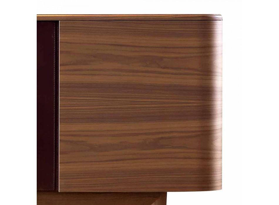 Credenza in legno impiallacciato Grilli York 4 ante made in Italy