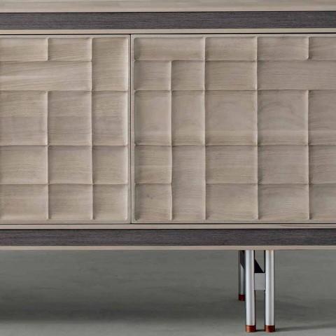Credenza moderna di design con 3 ante in legno massello Anna