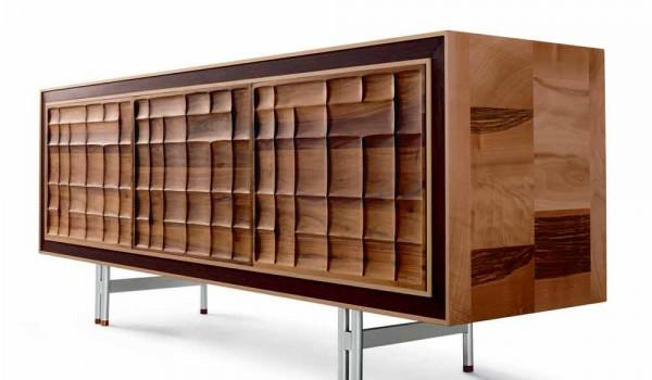 Credenza Moderna Legno Massello : Credenza moderna con ante in legno massello anna
