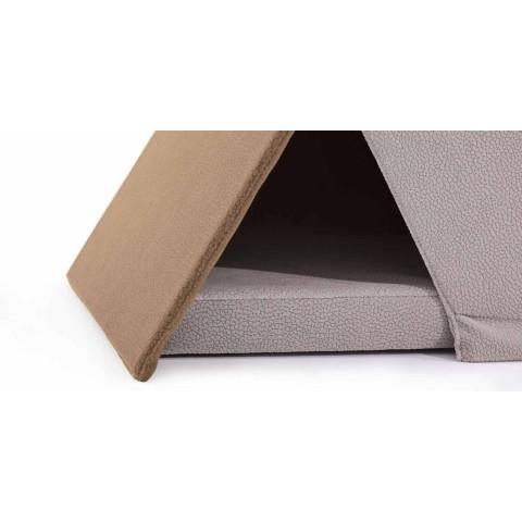 Cuccia per Cani e Gatti a Forma di Tenda con Cuscino Made in Italy - Casetta
