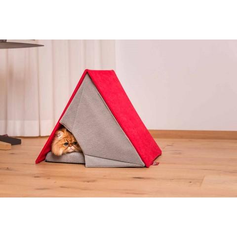 Cuccia per Cani e Gatti a Forma di Tenda Sfoderabile Made in Italy - Casetta
