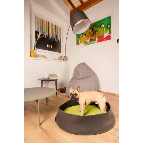Cuccia per Cani Ovale in Microfibra e Tessuto Riciclato Made in Italy - Riparo