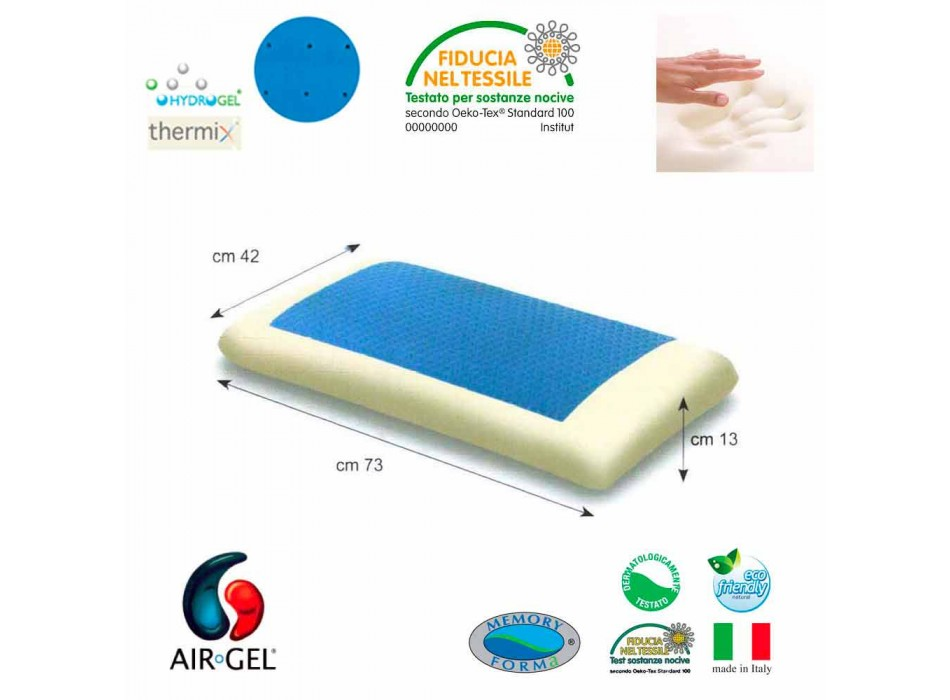 Cuscino anallergico ultra soffice Gel Soft Air made in Italy