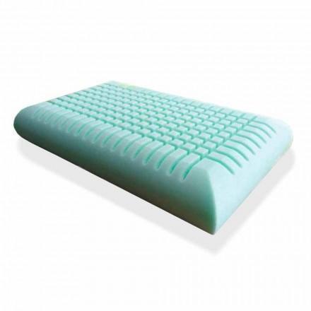 Cuscino Ergonomico in Memory Foam Alto 12 cm Prodotto in Italia, 2 Pezzi – Cool