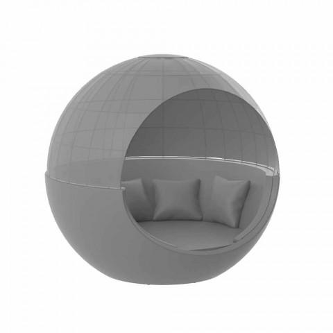 Daybed da Giardino Design Rotondo di Lusso con Parasole - Ulm Moon by Vondom
