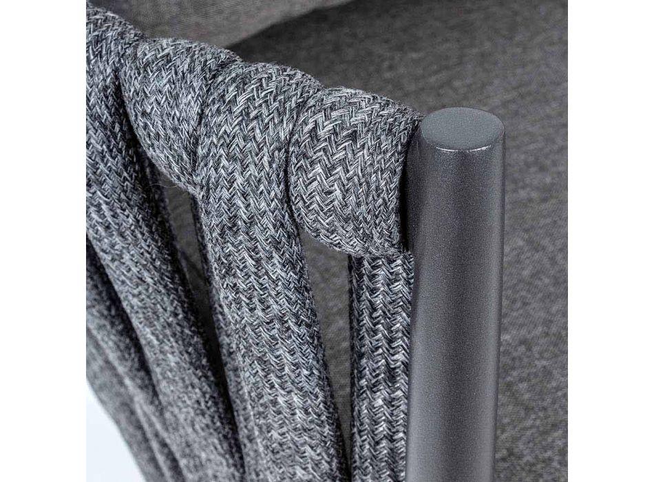 Daybed da Giardino in Alluminio, Fibra Sintetica e Tessuto Homemotion - Lucio