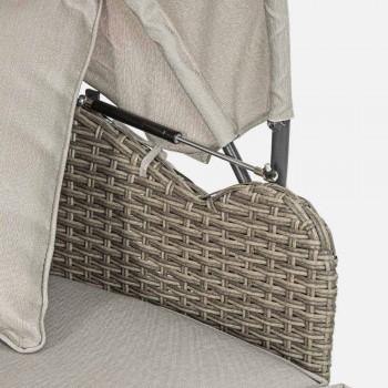 Daybed da Giardino in Tessuto e Fibra con Struttura in Alluminio - Tiago