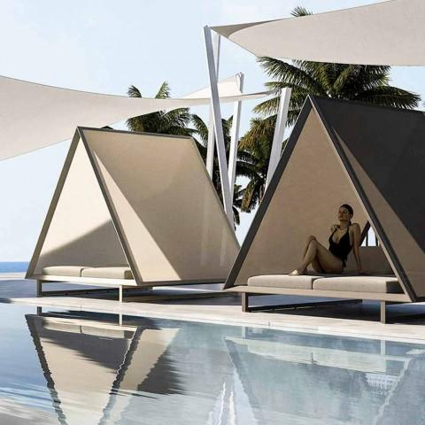 Daybed Esterno in Alluminio e Tessuto Design di Lusso - Frame Vineyard by Vondom