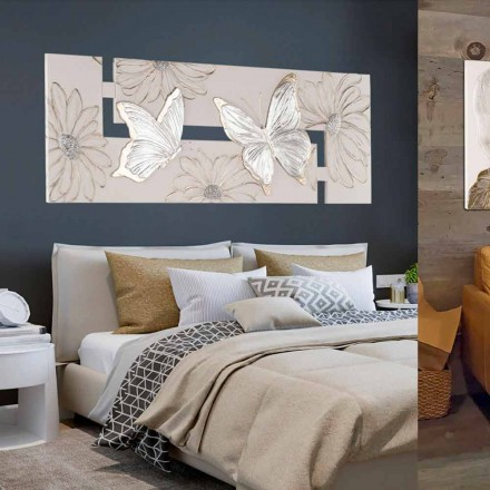Dipinto fatto a mano a doppia-elle con farfalle made in Italy Martina