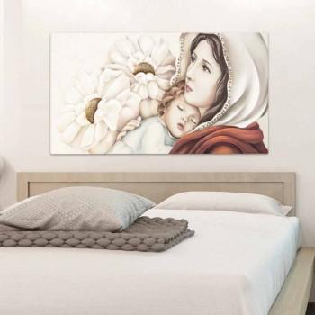 Dipinto moderno madre con bambino decori in foglia oro Scott