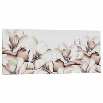 Stampa su tela floreale di design decorata a mano in Italia Moscal