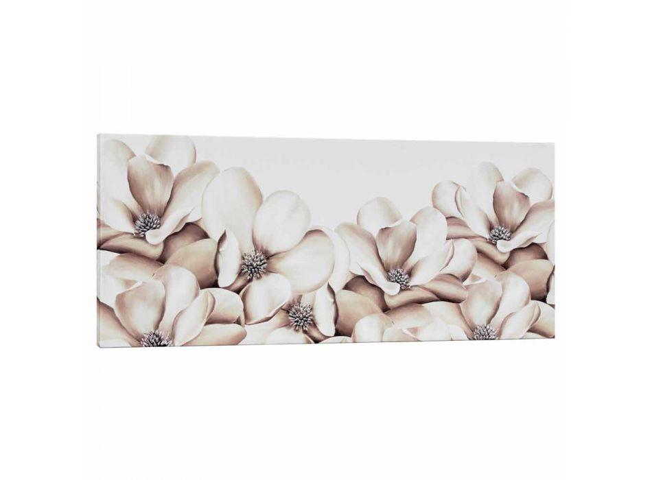 Dipinto su tela floreale di design decorato a mano in Itali Moscal