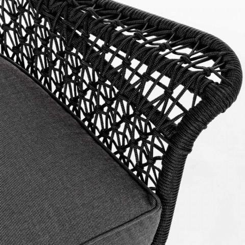 Divano 2 Posti da Esterno di Design in Alluminio e Tessuto  Homemotion - Nigerio