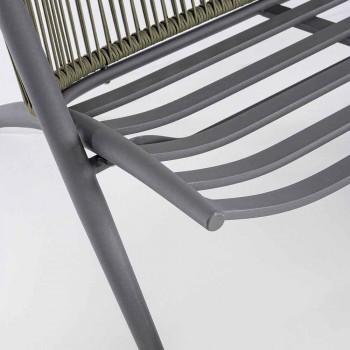 Divano 2 Posti da Esterno in Alluminio e Corda con Cuscini Homemotion - Gillian